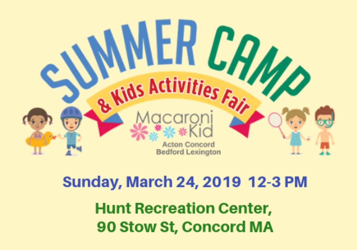 Mar 24 Summer Camp Kids Activities Fair Concord Ma Patch