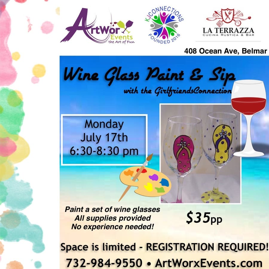 Jul 17 Wine Glass Paint Sip With Artworx Events