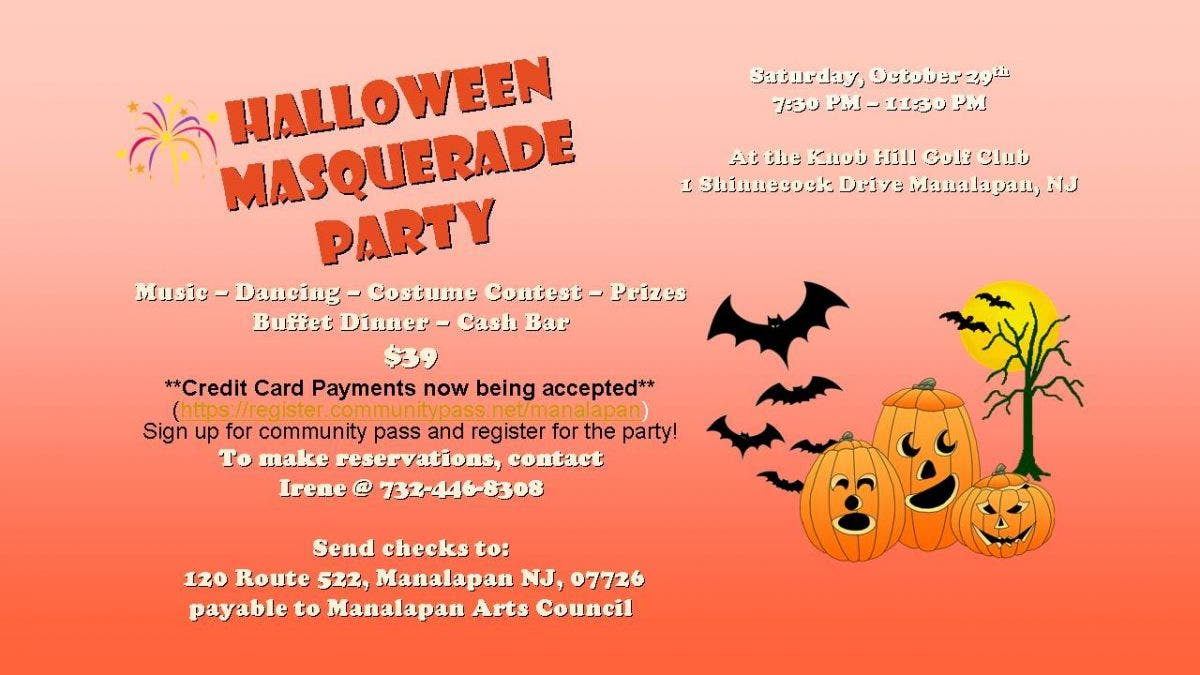 Halloween Costumes 07726.Oct 29 Halloween Masquerade Party Manalapan Nj Patch