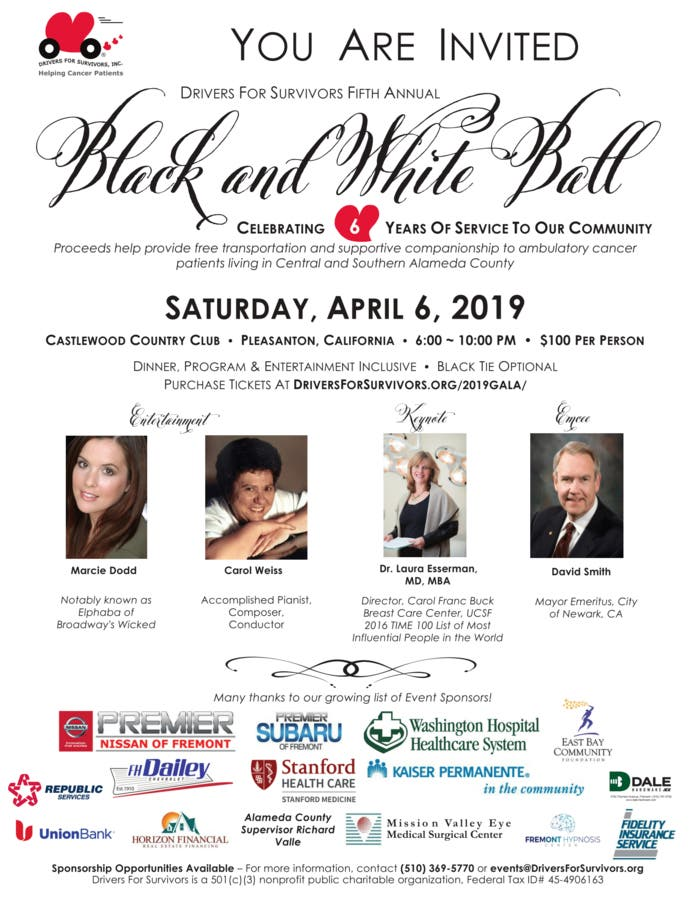 Apr 6 | Drivers For Survivors 5th Annual Black & White Ball