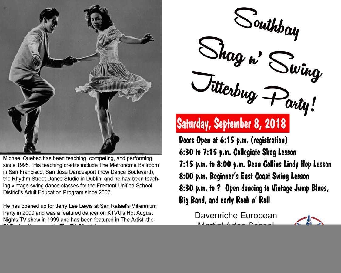 Sep 8 | Southbay Swing Dance Party! | Milpitas, CA Patch