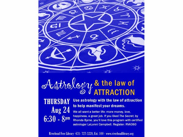 Aug 24 | Astrology and the Law of Attraction | Riverhead, NY Patch