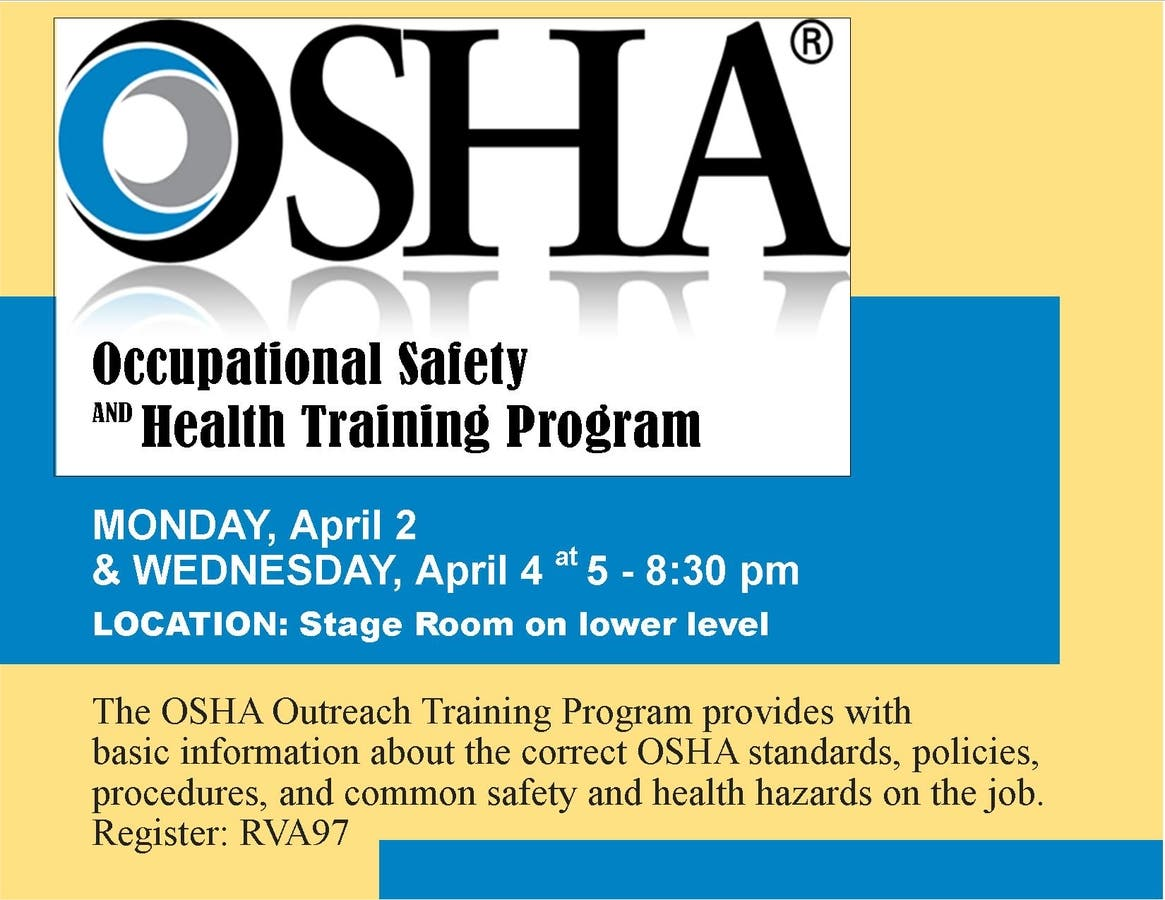 Apr 2 | OSHA Standards for General Industry | Riverhead, NY
