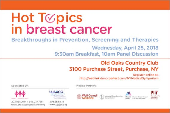 Apr 25 | Breast Cancer: Breakthroughs in Prevention