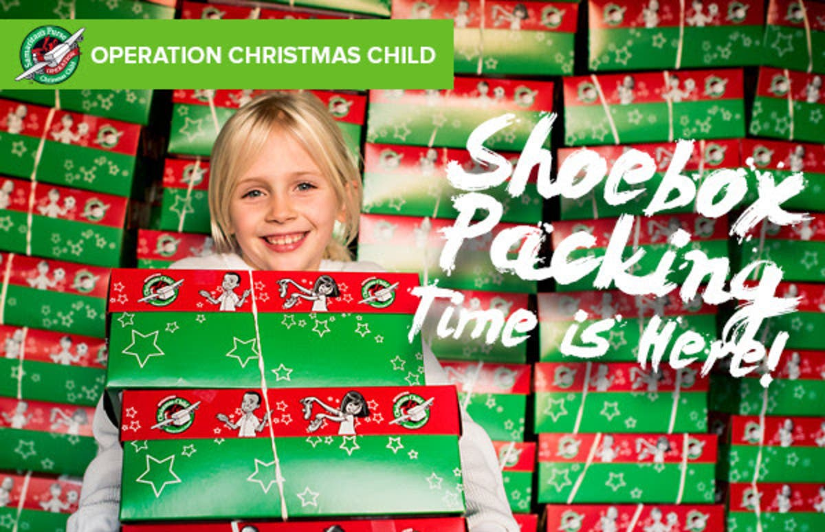 Christmas Shoebox.Nov 14 Operation Christmas Child Shoebox Collection Center