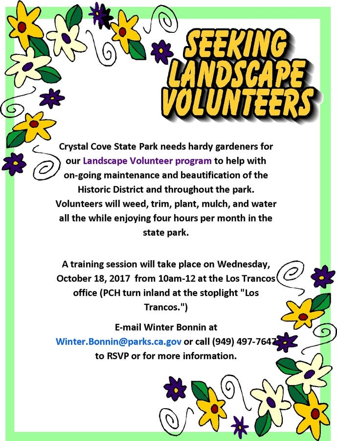Dec 31 | Crystal Cove State Seeking Landscape Volunteers