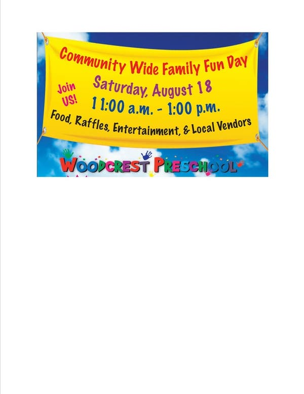 Aug 18 Community Wide Family Fun Day And Preschool Open House