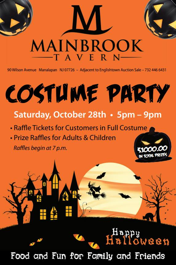 Halloween Costumes 07726.Oct 28 Halloween Party And Costume Contest At Mainbrook Tavern Manalapan Nj Patch