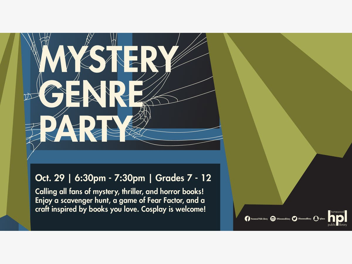Oct 29   Mystery Genre Party   Homewood-Flossmoor, IL Patch