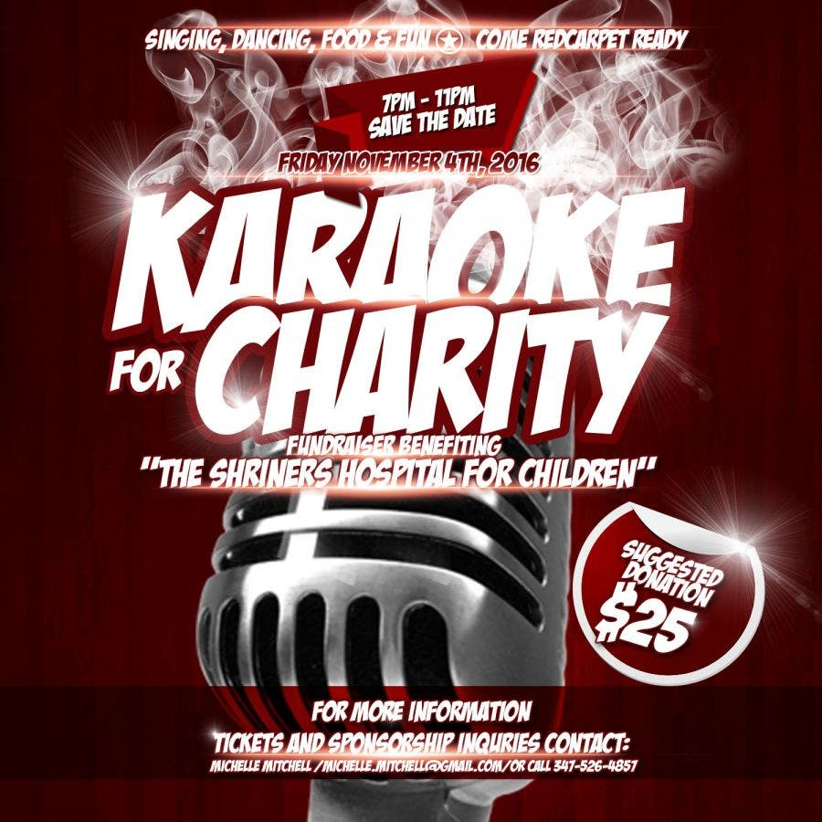Karaoke For Charity | SAVE THE DATE 11/4/2016 | Farmingdale