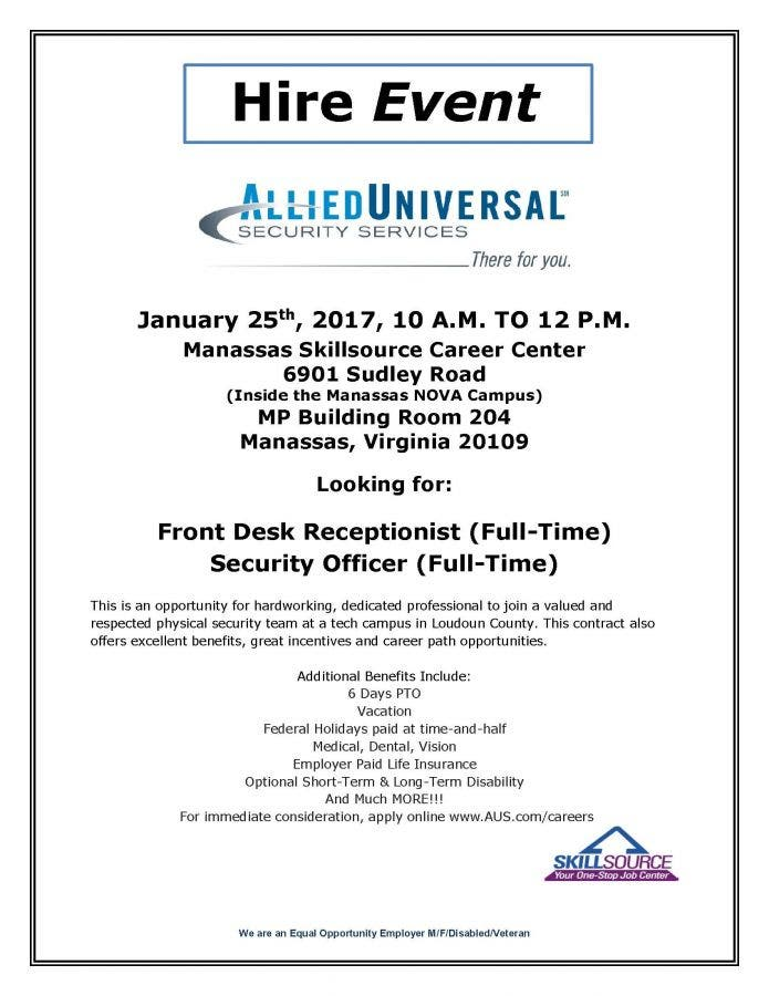 Prime Dec 31 Hire Event Allied Universal Security Services Beutiful Home Inspiration Papxelindsey Bellcom