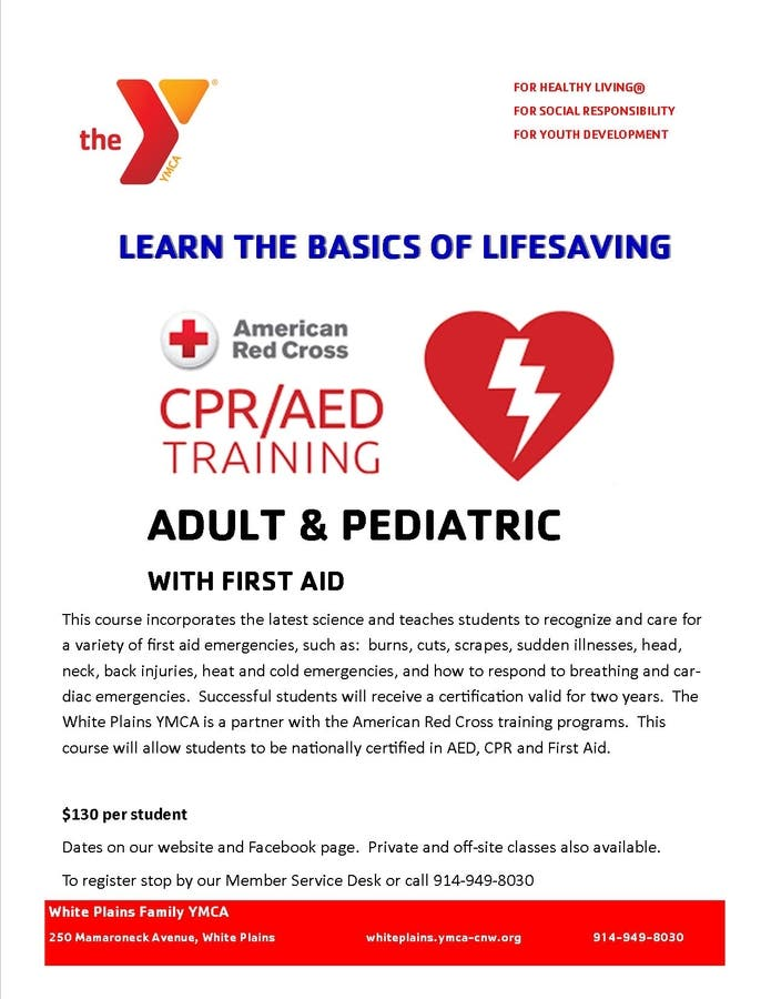 Mar 3 | CPR/AED First Aid for Adult & Pediatric | White