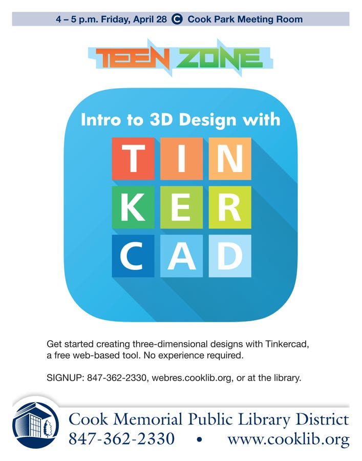Intro To 3d Design With Tinkercad For Teens Lake Forest Lake Bluff Il Patch