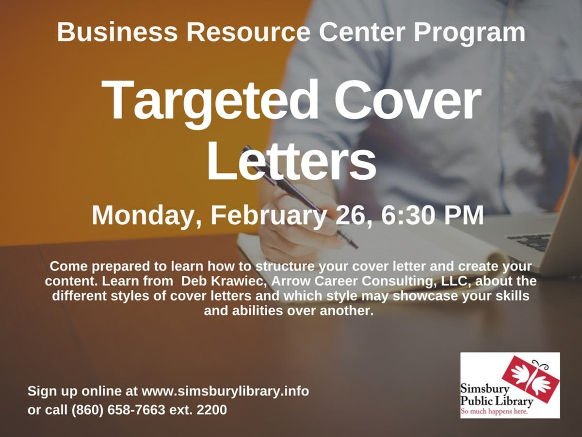 Dec 31 | Targeted Cover Letters | Simsbury, CT Patch