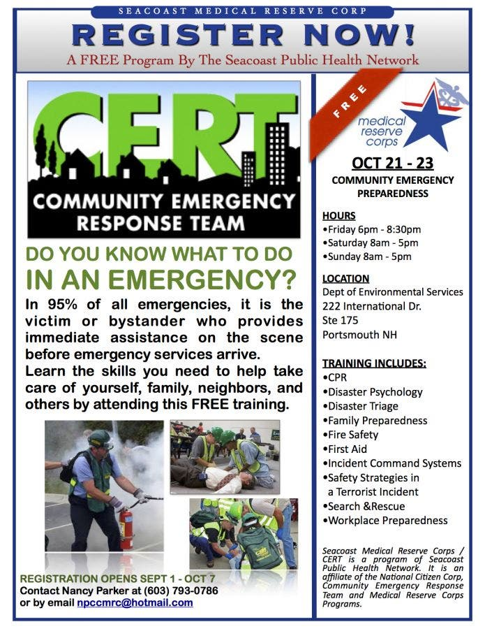 Dec 31 | FREE 3-day weekend training--Community Emergency