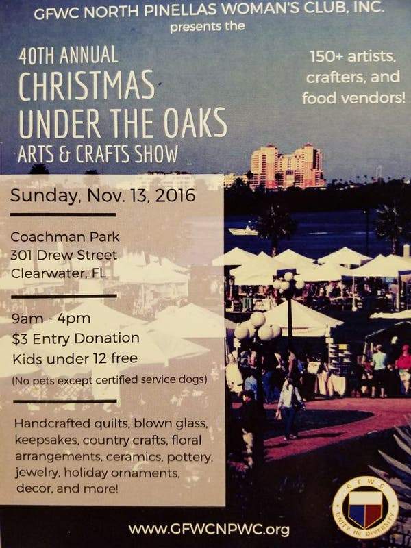 Christmas Under The Oaks.Nov 13 40th Annual Christmas Under The Oaks Arts Crafts