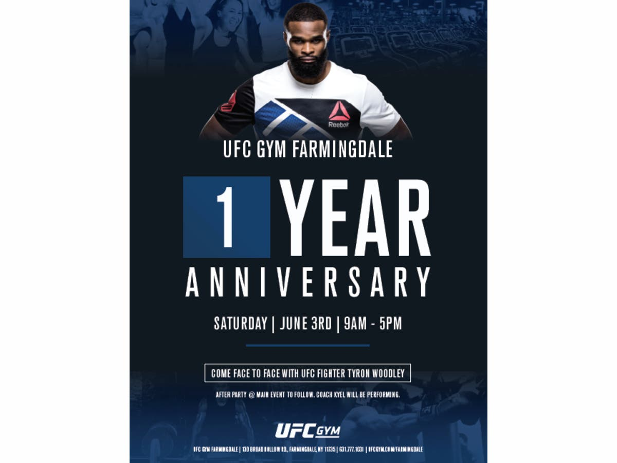 0477d60bad Jun 3 | UFC Gym Farmingdale Celebrates One Year Anniversary On June ...