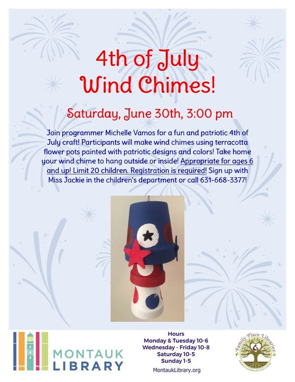 Jun 30 | 4th of July Wind Chimes! | Montauk, NY Patch