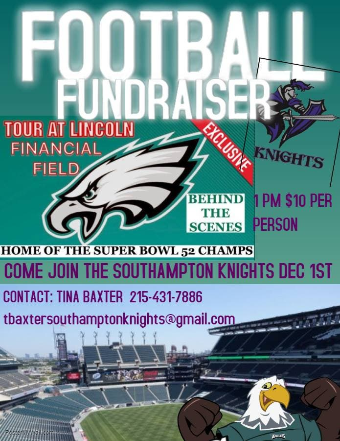 Nov 27 Tour The Linc With The Knights Saturday December 1st 1pm Upper Southampton Pa Patch