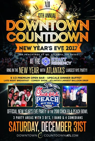 """Dec 31   Downtown Countdown Atlanta New Year's Eve """"The ..."""
