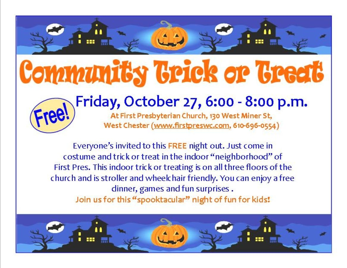 Community Trick Or Treat Event West Chester Pa Patch