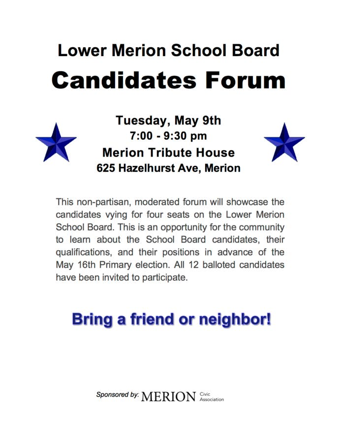 May 9 | Candidates Forum for LMSD School Board Candidates