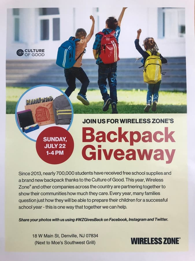 Dec 31 | FREE Backpack Giveaway! | Parsippany, NJ Patch