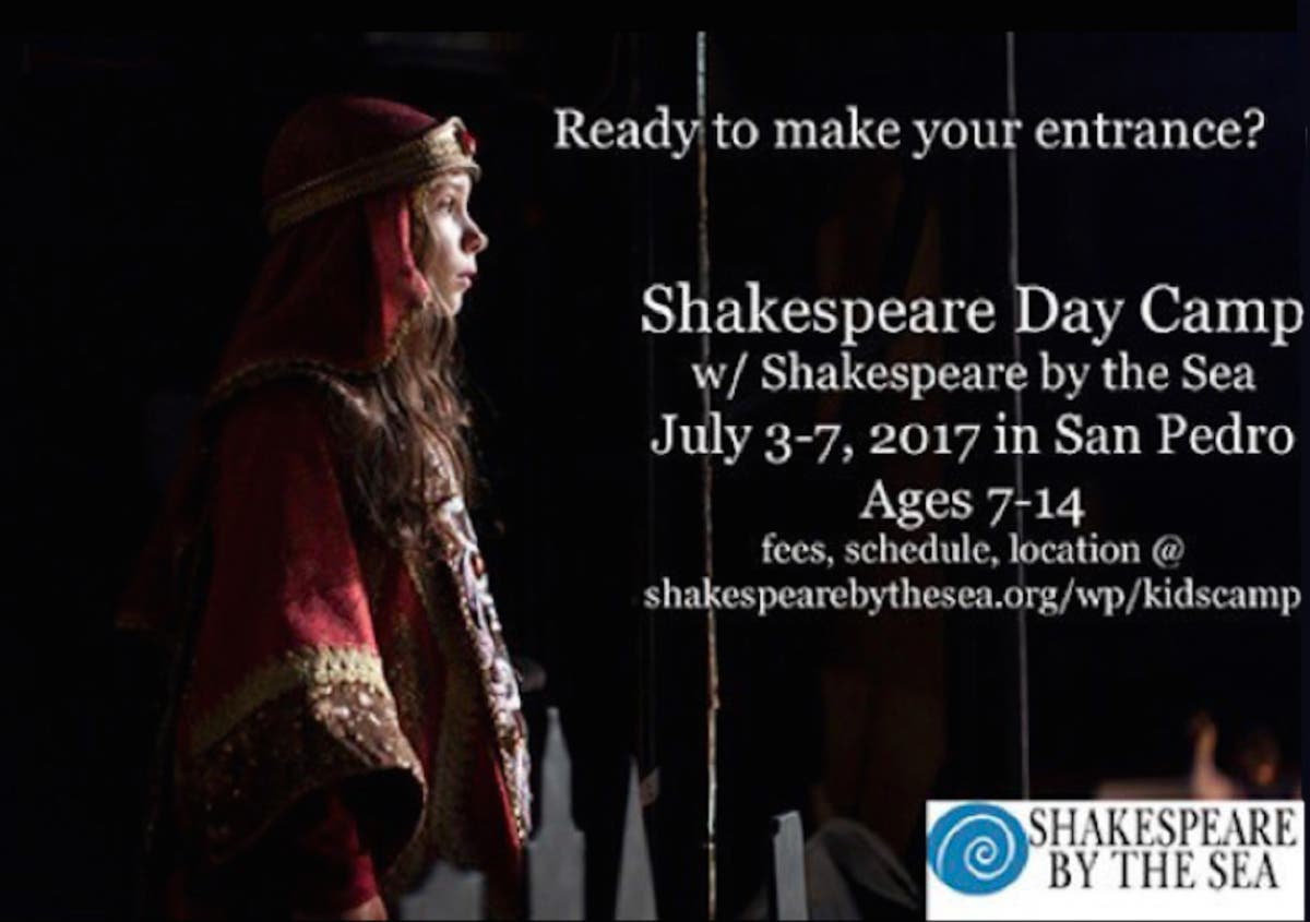 Jul 3 Shakespeare Day Camp With Shakespeare By The Sea Palos