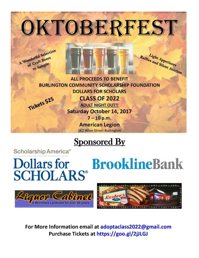OKTOBERFEST Benefiting The Class Of 2022 Dollars For Scholars