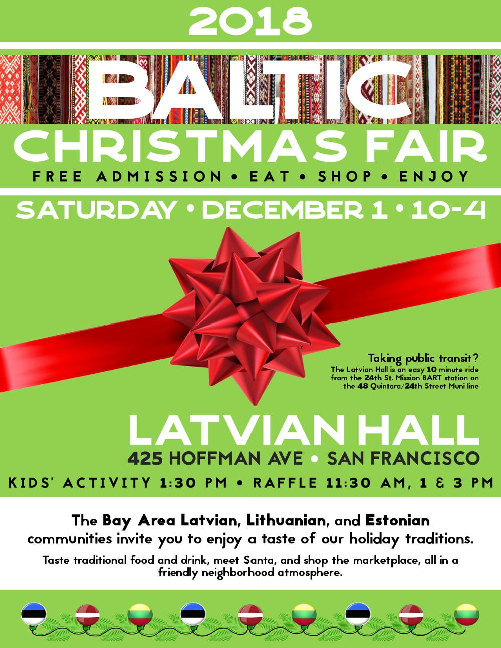 Latvian Lutheran Church Christmas Fair 2020 Dec 1 | 5th Annual Baltic Christmas Fair | San Francisco, CA Patch
