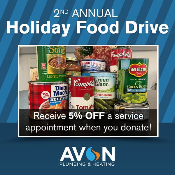 Dec 24 Avon Plumbing Heating Canned Food Drive West