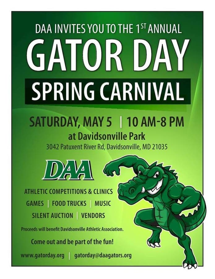 May 5   1st Annual Gator Day Spring Carnival   Edgewater