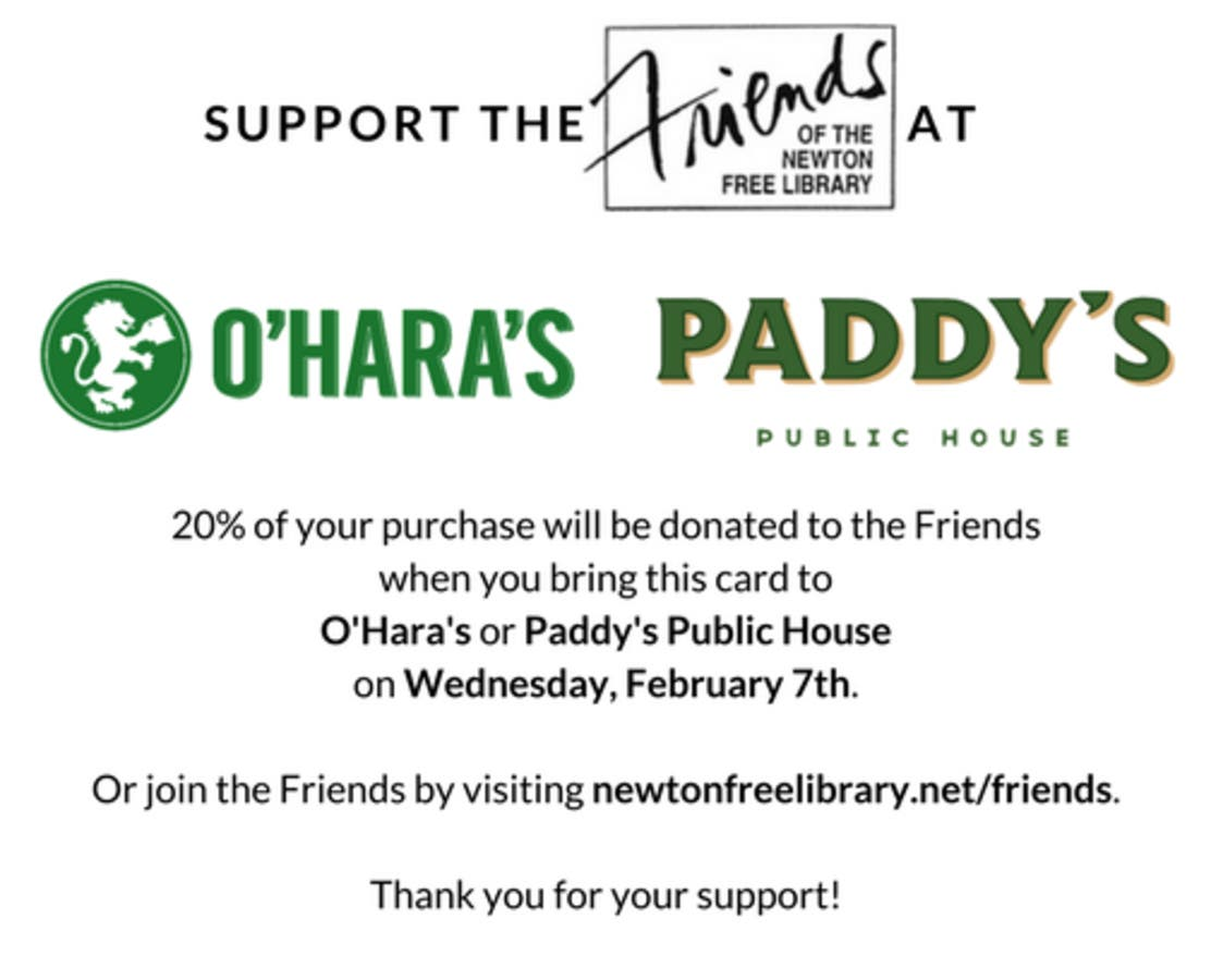 Dec 31 | Friends of the Newton Free Library Fundraiser