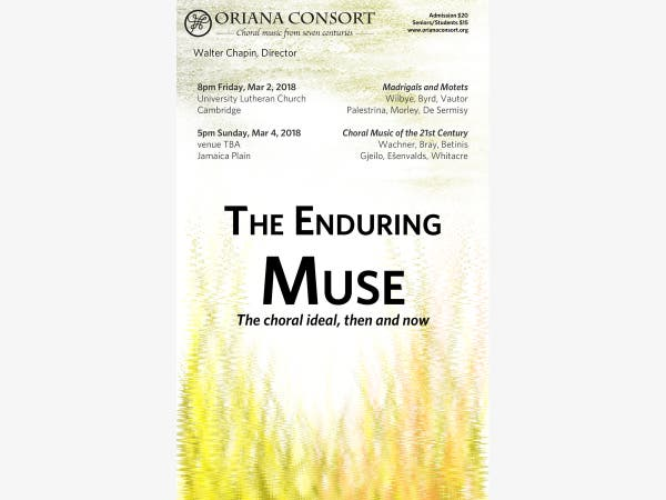 Mar 4 | The Enduring Muse: The Choral Ideal, Then and Now