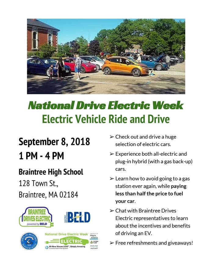 Sep 8 | Electric Vehicle Test Rides-Sept  8 at Braintree