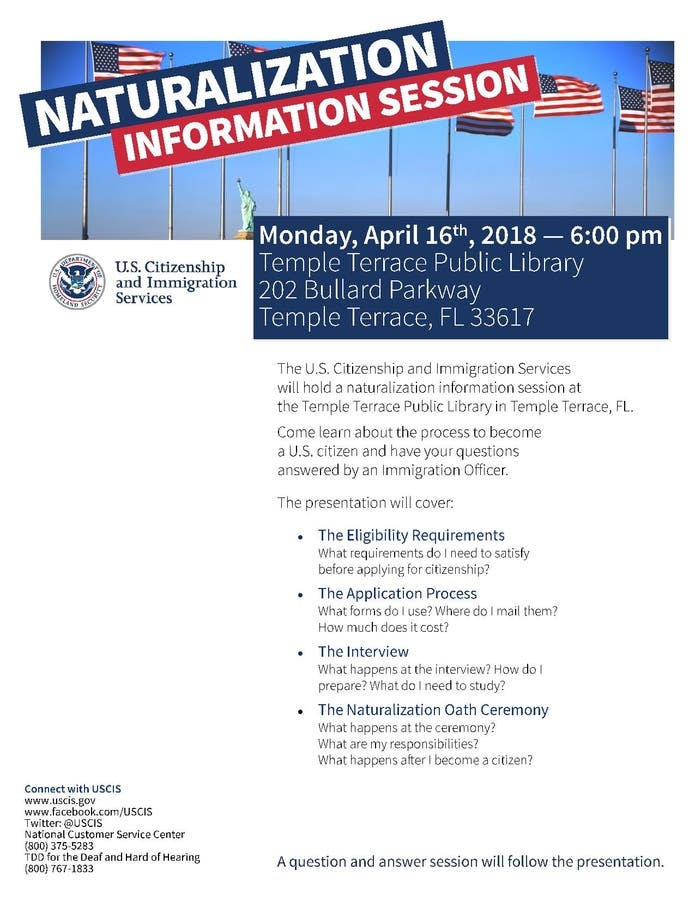 Apr 16 | USCIS How to Become a US Citizen Presentation | Temple