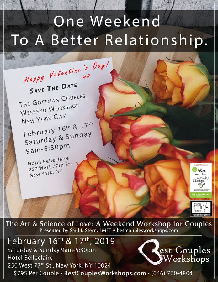 Feb 16 | The Gottman Couples Weekend Workshop February 2019