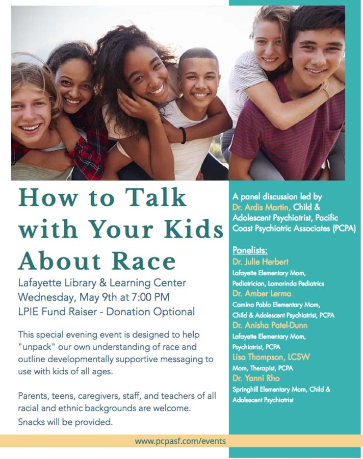 Child Psychiatrist How To Talk To Kids >> May 9 Panel Discussion How To Talk With Your Kids About Race