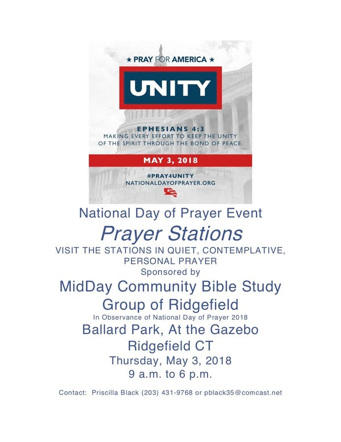 May 3   National Day of Prayer - PRAYER STATIONS EVENT