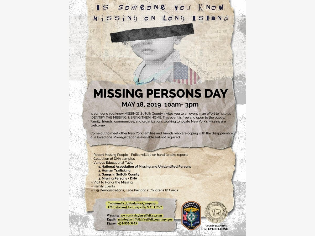 May 18 | Missing Person Day | Sayville-Bayport, NY Patch