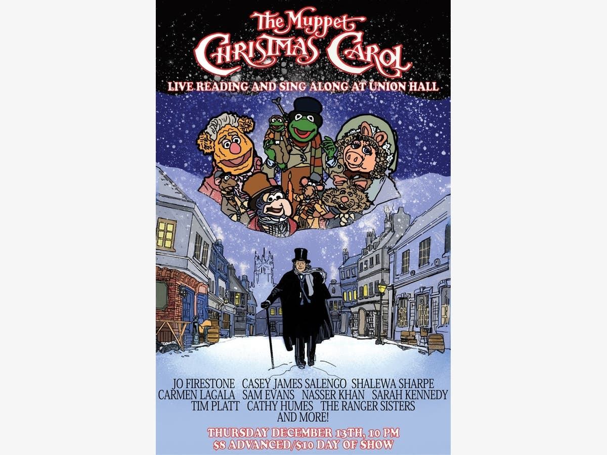 Muppet Christmas.Dec 13 The Muppet Christmas Carol Live Reading And Sing