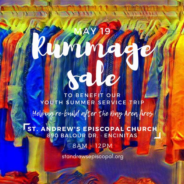 May 19 | St  Andrew's Episcopal Youth Rummage Sale