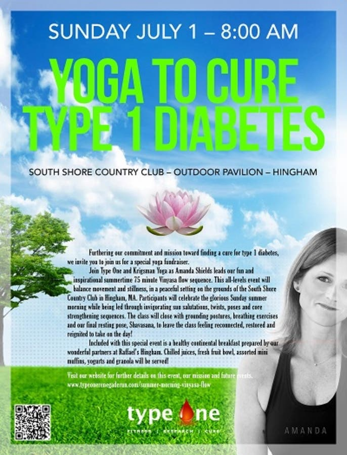 Jul 1 | Local Organization Holds Yoga Event to Cure Type 1