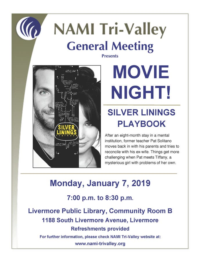 Jan 7 | NAMI TriValley Presents: Silver Linings Playbook