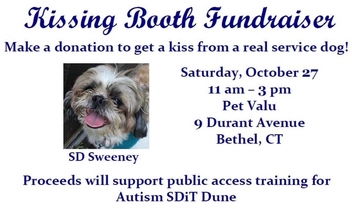 Oct 27 | Service Dog Kissing Booth | Bethel, CT Patch