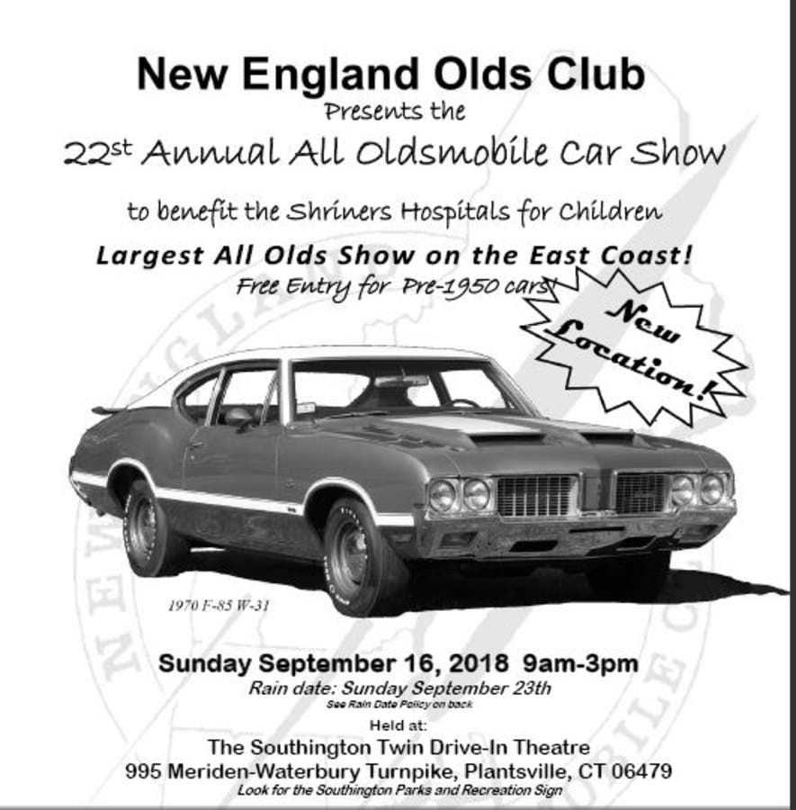 Sep 16 | 22st Annual All Oldsmobile Car Show to benefit the Shriners