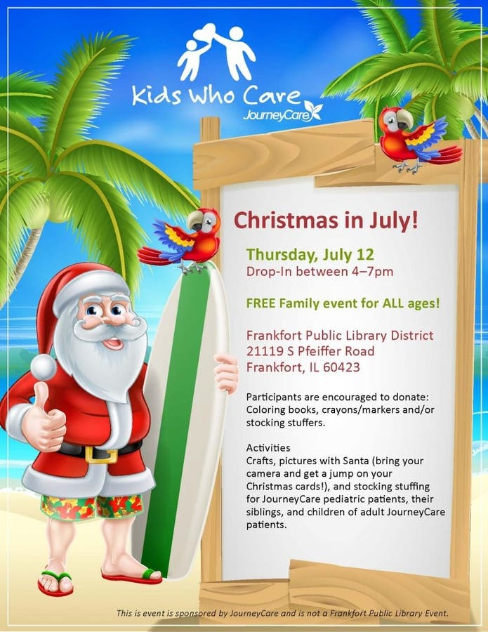 Christmas In July Coloring.Jul 12 Christmas In July Frankfort Il Patch