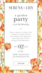 May 2 Garden Party At Serena Lily Summit Nj Patch