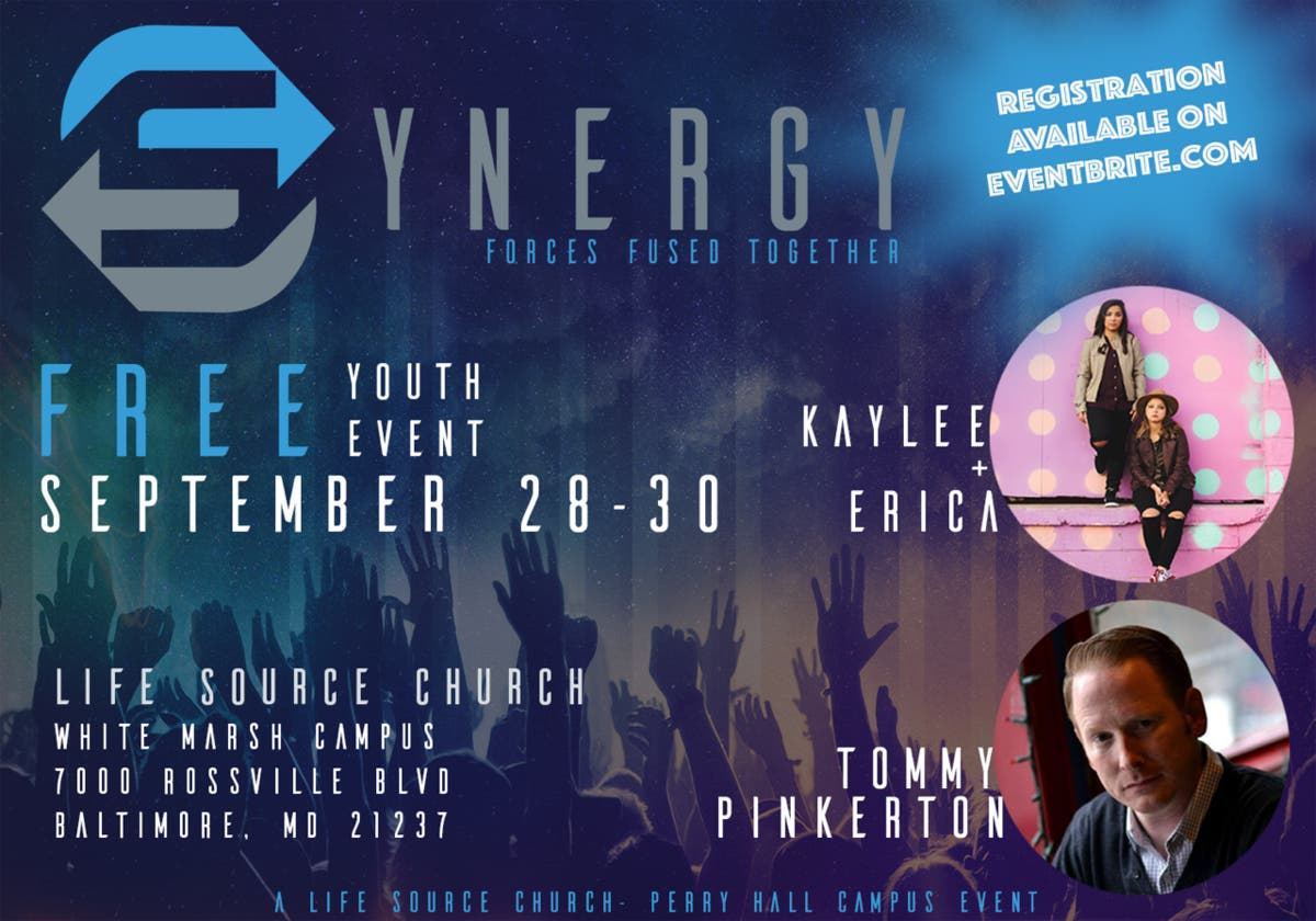 Sep 28 | Synergy - 3 Night Youth Conference | Baltimore, MD Patch