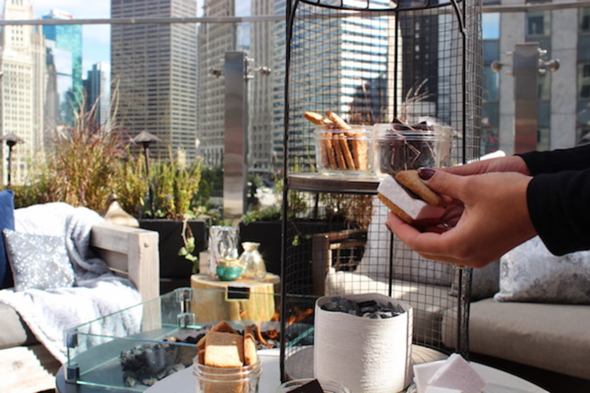 Nov 17 Raised An Urban Rooftop Bar Celebrates The Festival Of Lights Lincoln Park Il Patch